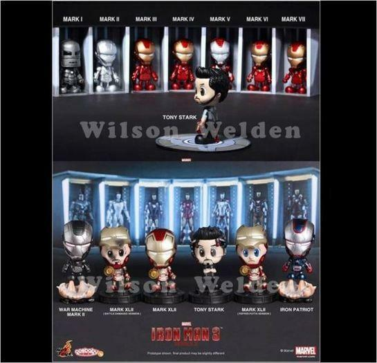 HOT TOYS COSBABY IRONMAN 3 SERIES 1 & SERIES 2 (S) SET