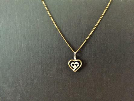 *Gold Necklace with Diamond Pendant*