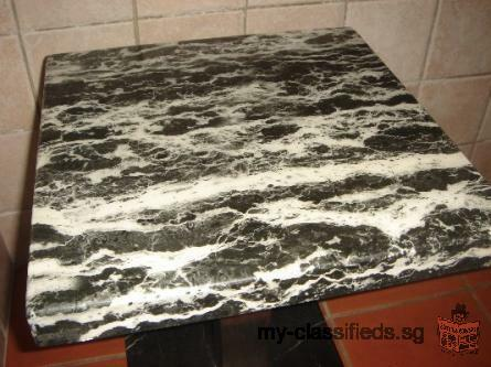 BLACK MARBLE / STEEL SIDE TABLE -Free Delivery!
