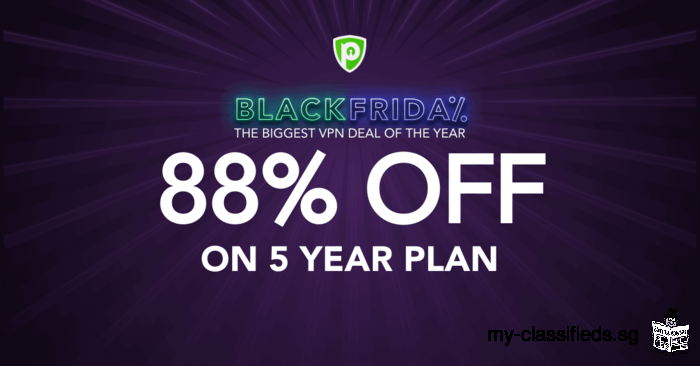 Black Friday PureVPN Deal: 60 Months for only $1.32/mo