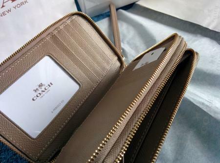 COACH Double-Zip Phone Wallet Wristlet (brand new, complete set)
