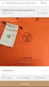 Hermes leather bag full set