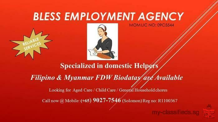 LOOKING TO HIRE A FULL TIME DOMESTIC HELPER?