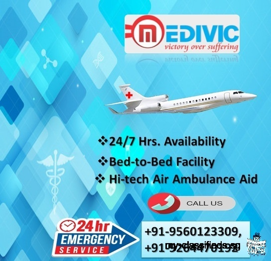 Spectacular ICU Air Ambulance Services in Allahabad by Medivic