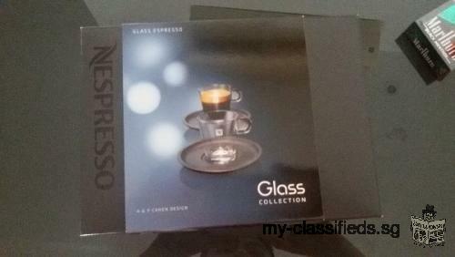 WTS BNIB Nespresso Espresso Glass Set
