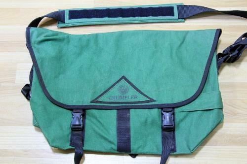 FOR SALE: CRUMPLER BAG – THE SEEDY THREE GREEN HERITAGE
