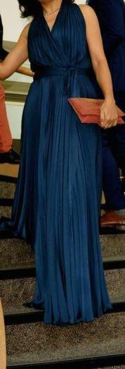 Full length wrap dress in Diane Von Furstenberg's style
