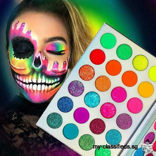 Neon Glitter Eyeshadow Palette